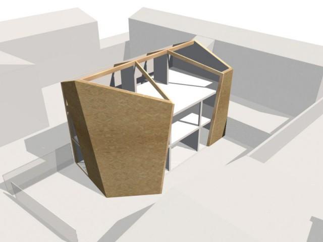 Une maison édifiée en limites de propriété - Maison Cosse - ARBA Architecture