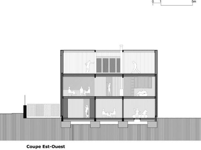 Trois habitations en une - Maison Cosse - ARBA Architecture