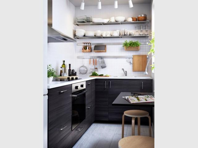 Am nager une cuisine dans moins de 6 m2 c 39 est possible for Cuisine 9m2 fermee