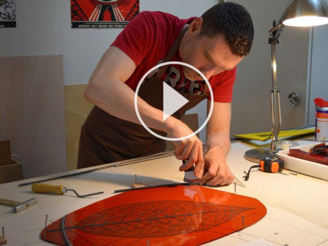 Dans les coulisses de la fabrication d\'un vitrail... (VIDEO)