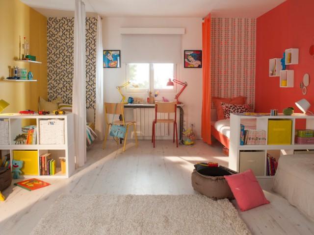 Utiliser la couleur pour partager une chambre dans la - Couleur dans une chambre ...