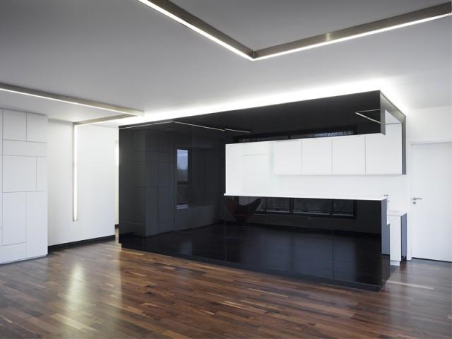 1 appartement noir et blanc minimaliste for Interieur noir et blanc