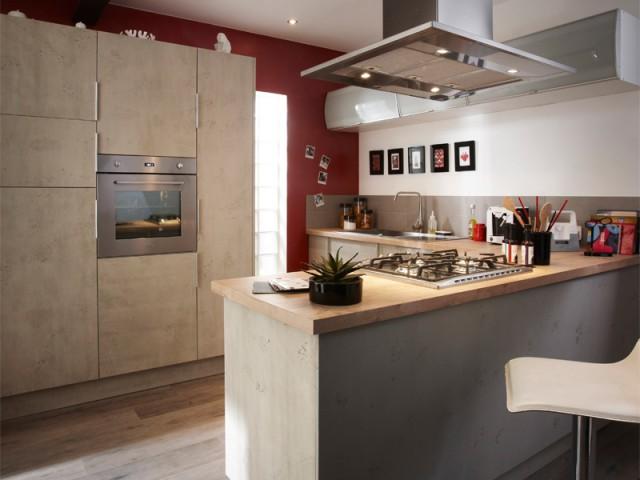 D co comment donner un air industriel sa cuisine - Element de cuisine leroy merlin ...