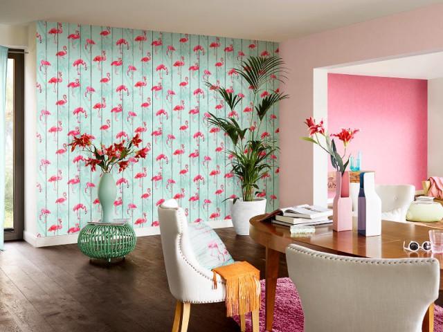 flamant rose ananas et palmiers la floride s 39 invite. Black Bedroom Furniture Sets. Home Design Ideas