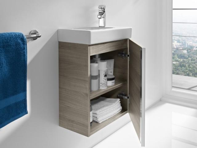 Petits espaces 10 meubles sous vasque pour une petite for Meuble pour petite salle de bain