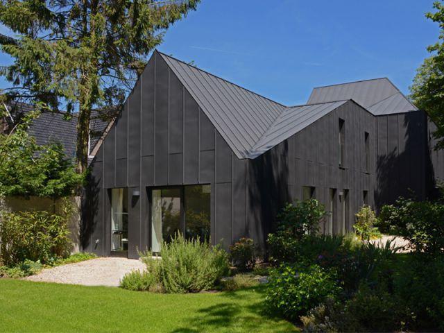 maison toit zinc laura monopente zinc with maison toit. Black Bedroom Furniture Sets. Home Design Ideas