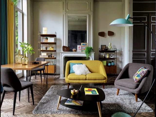 une pointe de turquoise dans mon salon 10 photos pour vous inspirer. Black Bedroom Furniture Sets. Home Design Ideas