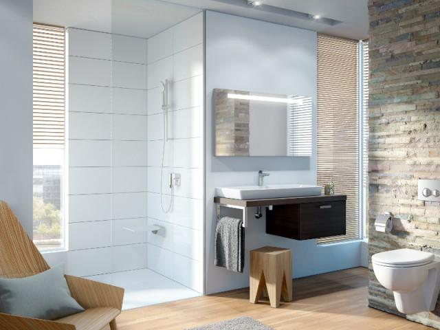 Une douche à italienne esthétique et facile d'accès