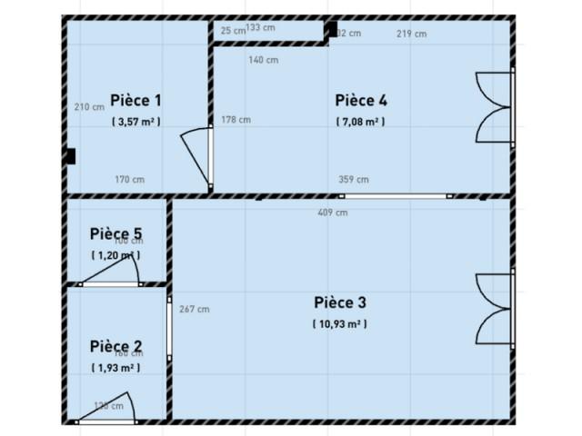Plan du studio avant les travaux