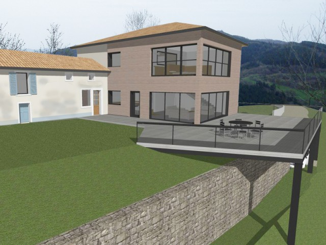 Une maison contemporaine en harmonie avec son environnement - Là-haut sur la colline...