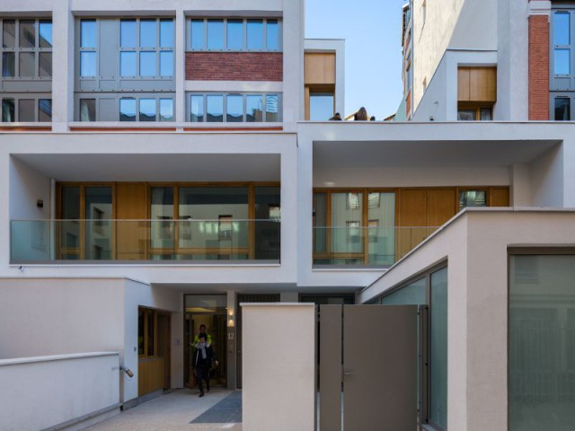 Reconversion d'un immeuble industriel en 85 logements sociaux dans le 18ème arrondissement de Paris