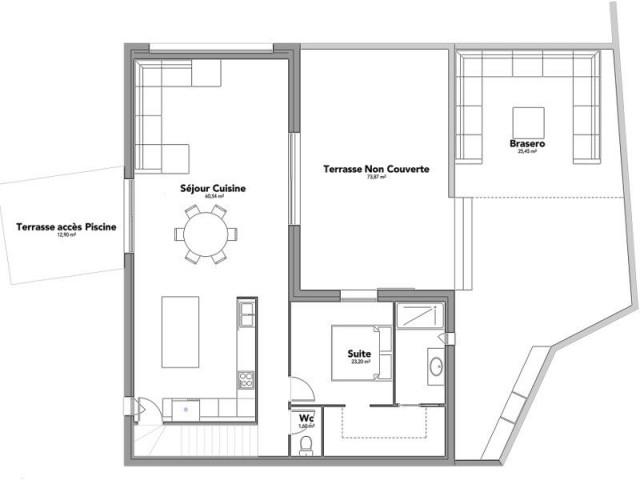 Un grand espace de vie avec accès à la piscine - Maison à Narbonne