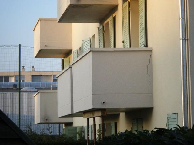Balcon fissuré