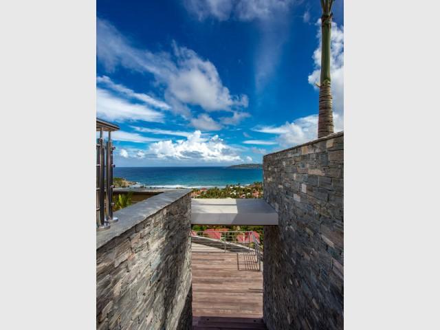 Vue sur la mer des Caraïbes