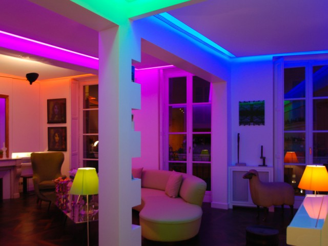 Mise en lumière d'un appartement parisien