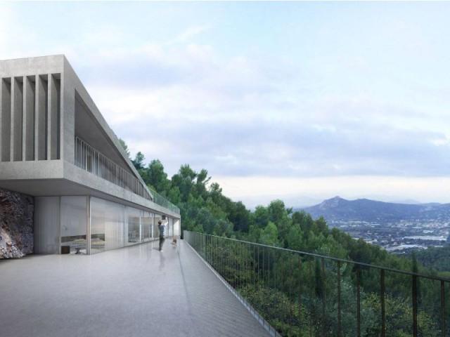 Une villa d'architecte perchée sur la colline d'Hyères : Comme de l'origami - Une villa d'architecte perchée sur la colline d'Hyères