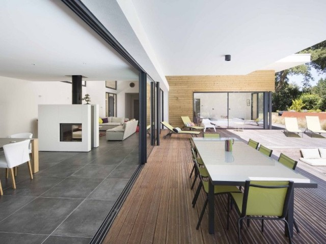 Villa Landaise avec piscine : orientation - Villa Landaise