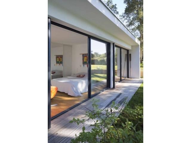 Villa Landaise avec piscine : toiture plate - Villa Landaise