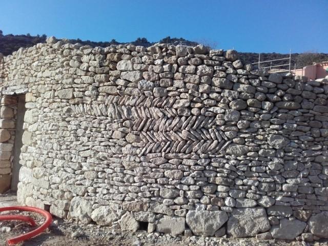 Murs en pierre en double parement