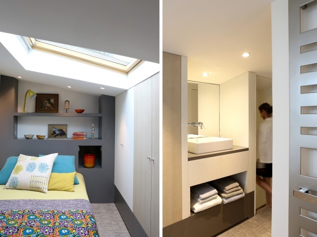 Une chambre d'amis sous les toits de Paris