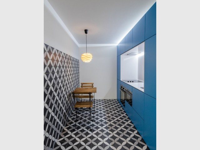 Azulejos et carreaux de ciment dans la cuisine