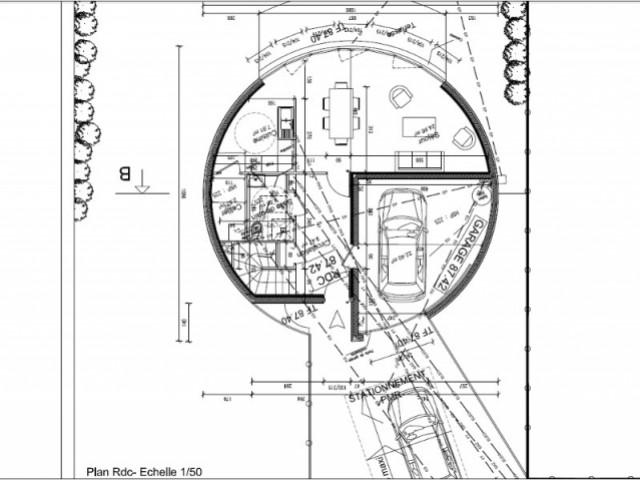 Favori Une maison ronde à la façade ondulée XX29