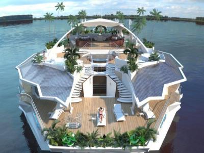 Orsos Island, la villa flottante conçue comme un yacht