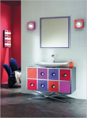 D co salle de bain pop for Salle de bain pop