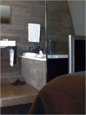 La salle de bain une pi ce vivre notre loft - Salle de bain loft new yorkais ...