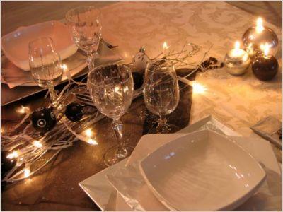 Une table de no l en noir et blanc page 4 - Table de noel chic ...
