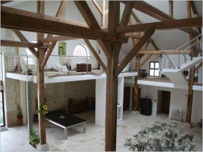 Une grange de 10 m de haut enti rement chauff e par le sol notre loft - Amenager une grange en habitation ...