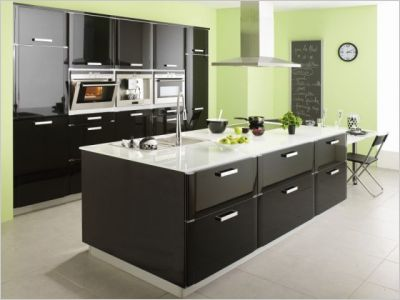 cuisine couleur bois tous les objets de d coration sur elle maison - Couleur Mur Pour Cuisine Noire