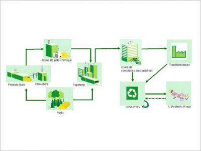 Innovation du papier adh sif au rev tement outdoor page 3 - Cycle de vie du papier ...