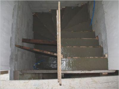 Construction d 39 un escalier b ton page 7 - Coffrage escalier arrondi ...