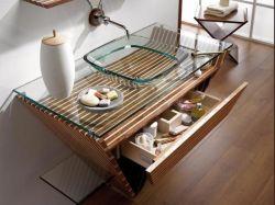 10 salles de bains exotiques - Meubles salle de bain bois exotique ...