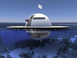 La soucoupe flottante, cet habitat rétro-futuriste