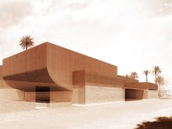 Terre cuite et béton pour le musée Yves Saint Laurent à Marrakech