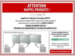 Brico Dépôt : rappel de radiateurs défectueux