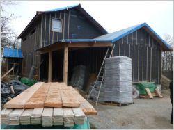 Chantier : une maison bois isolée à la ouate