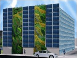 Energies renouvelables : Un mur végétalisé solaire présenté au