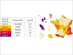 La nouvelle carte des zones sismiques entre en vigueur