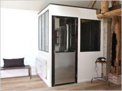 une extension acier corten sur une maison en briques rouges maisonapart. Black Bedroom Furniture Sets. Home Design Ideas