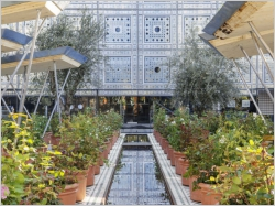 Un jardin oriental éphémère à l'Institut du Monde Arabe