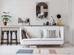Petits espaces : un petit canapé pour ne pas surcharger le salon