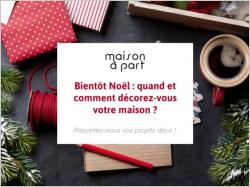 Enquête spéciale décoration de Noël : Participez et tentez de gagner une tablette !