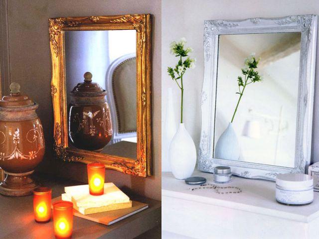 Redonnez vie un vieux miroir for Miroir semi reflechissant acheter