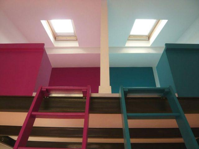 Avant apr s chambres sous les toits for Mezzanine chambre sous pente
