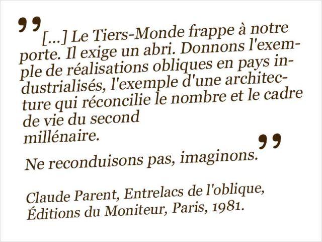 citation Claude Parent