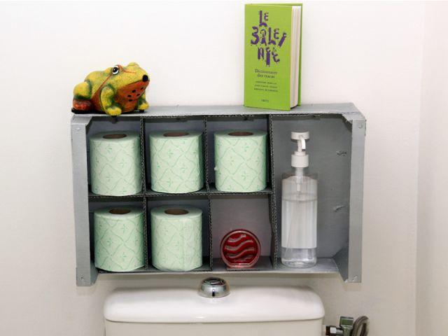 1 rangement malin récup' pour vos WC