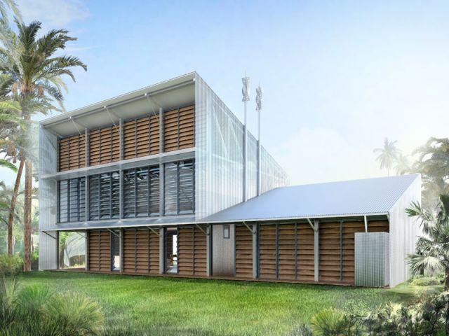 2 maisons bioclimatiques adapt es au climat tropical - Maison a renover en guadeloupe ...